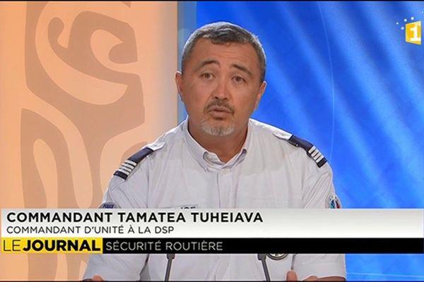 L'invité du JT  Tamatea Tuheiava, commandant d'unité à la DSP (direction de la sécurité publique)