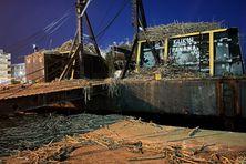 Environ 25 000 tonnes de cannes de Marie-Galante ont été transportées jusqu'à Pointe-à-Pitre.