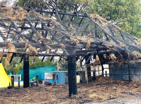 Après le feu au CNC, le faré détruit, 29 juillet 2020