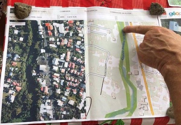 Rivière Saint-Jean travaux lit dévié collectif riverains Sainte-Suzanne 231119