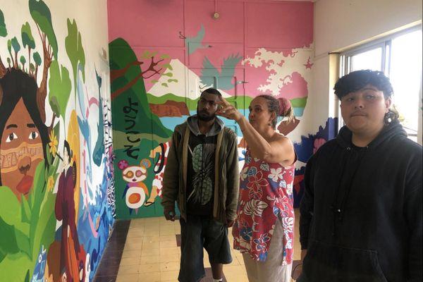 Inauguration d'une fresque murale peinte par les élèves du lycée Escoffier