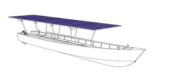Le prototype de la pirogue solaire