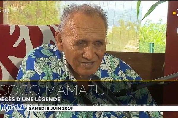 Coco mamatui, décès d'une légende de la chanson