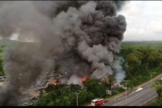 La casse de la zone Collery en feu