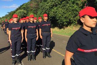 Défilé 14 juillet 2018 femmes pompiers preparatifs