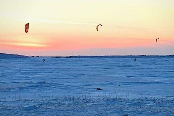 kitesurf hiver savoyard