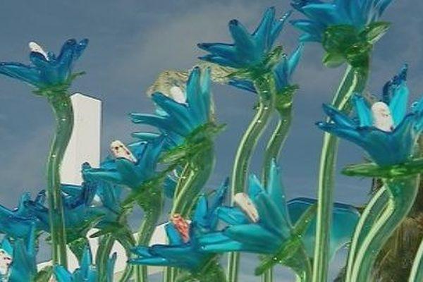 Fleurs en verre