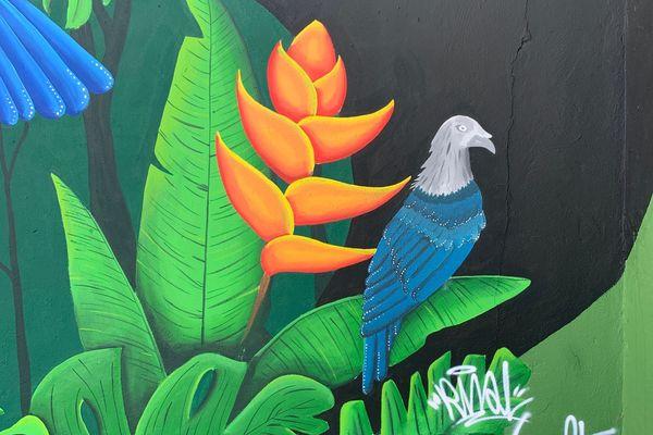 """TE AOATAKU À O HIVA"" - fresque murale à Hiva Oa"
