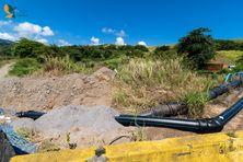 Canalisation d'eau à Séguineau au Lorrain.