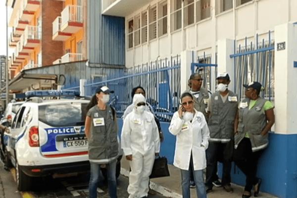 Les agents de la police scientifique de Cayenne en grève