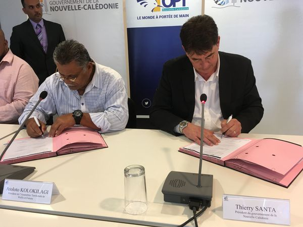 Signature convention NC OPT et Wallis et Futuna