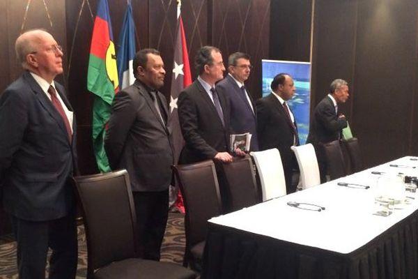 Signature d'une déclaration commune Calédonei / Papouasie, juillet 2018, à Port-Moresby