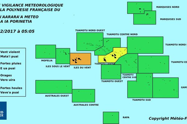 Vigilance orange fortes pluies aux IDV
