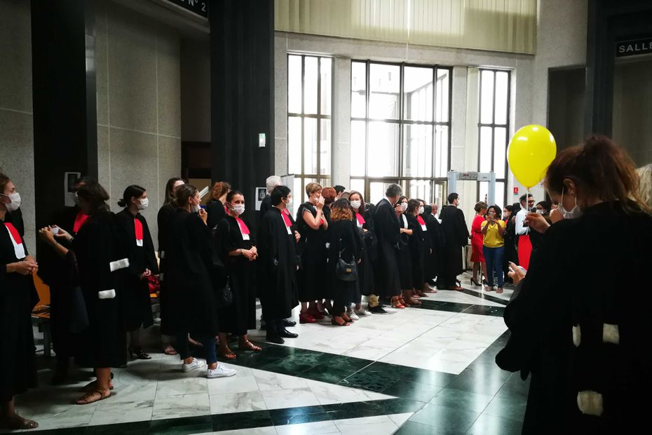 Réforme des retraites : nouvelle action coup de poing des avocats au tribunal de Saint-Denis - Réunion la 1ère