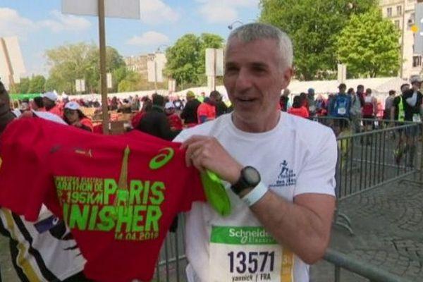 Yannick Drake au marathon de Paris