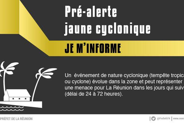pré-alerte jaune cyclonique