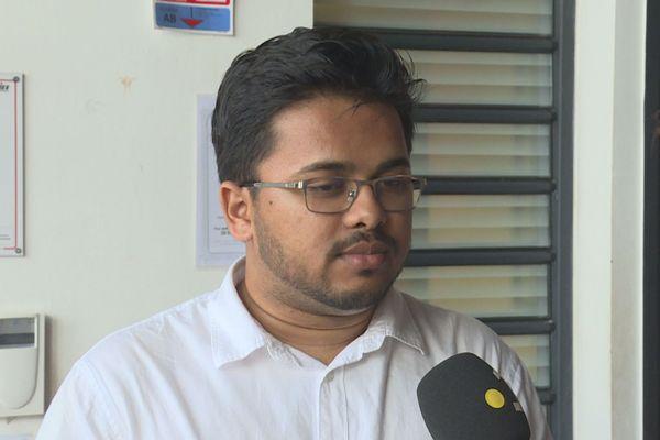 Andrew Ramdoar, étudiant vice-président du conseil académique de l'université.