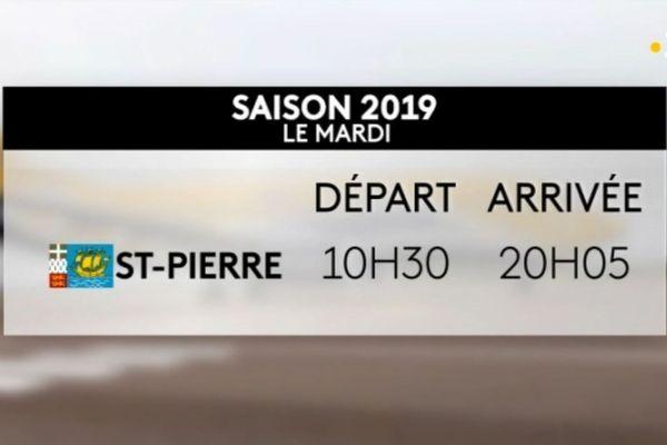 Horaires du vol direct vers Paris pour la saison estivale 2019