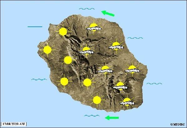 Carte météo 17 août 2020