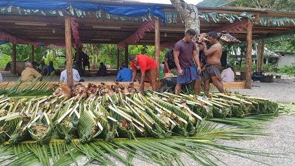 umu pour la semaine des communions à Futuna