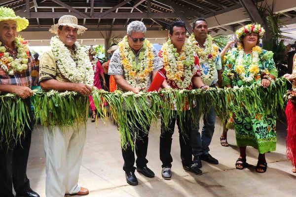 inauguration du débarcadère de Papetoai