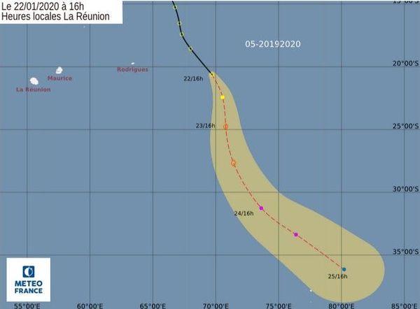 dépression tropical est des Mascareignes 220120