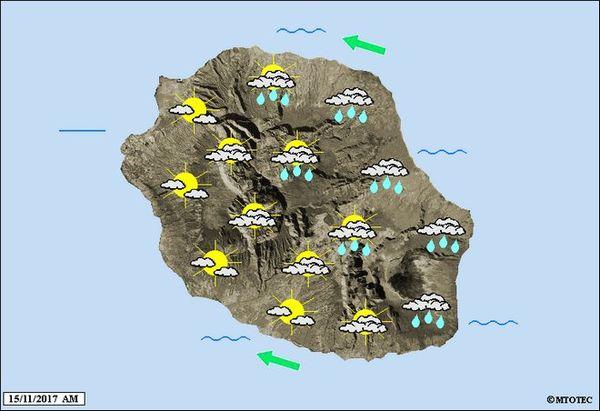 Carte météo mercredi 15 novembre 2017