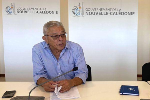 Yannick Slamet, porte-parole du 17e gouvernement calédonien, le 27 juillet 2021. Uni
