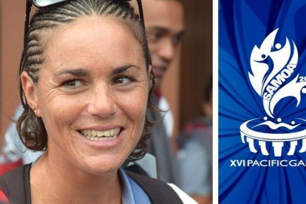 Samoa 2019, Charlotte Robin à son arrivée, 6 juillet 2019