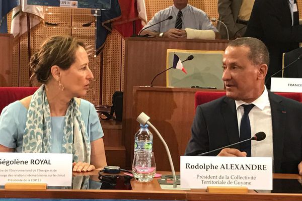 Ségolène Royal échange avec Rodolphe Alexandre