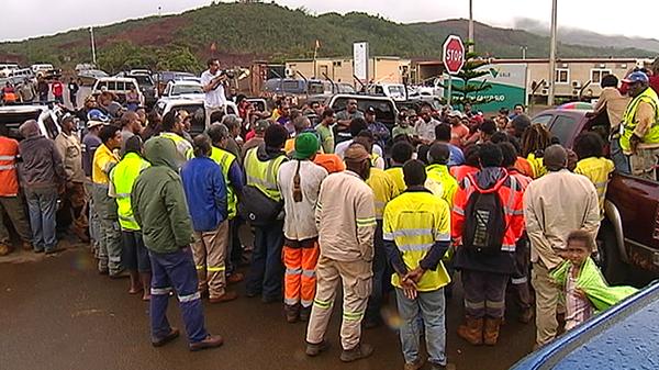 Mobilisation après la fuite d'acide de mai 2014 à l'usine du Sud Vale NC