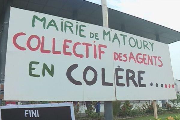 Marie de Matoury, grève