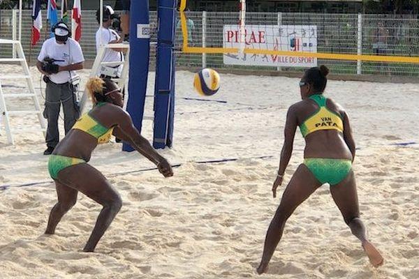 L'équipe Ni vanuatu féminine en action