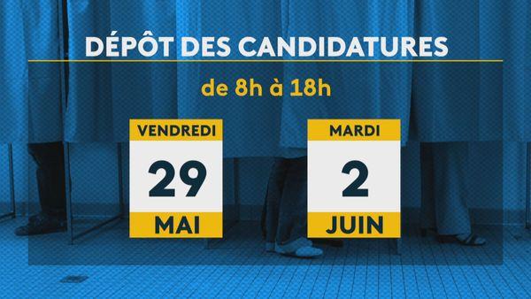Dépôts de candidatures municipales dates