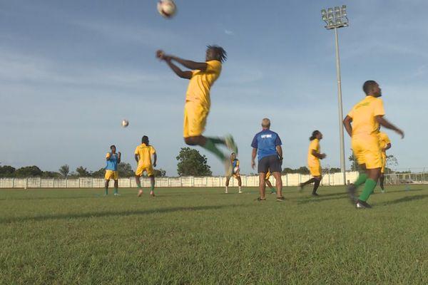 La sélection de la Guyane à l'entraînement