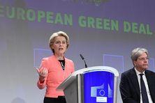 """Ursula von der Leyen, Présidente de la Commission européenne, a présenté le """"plan vert"""" pour le climat le 14 juillet à Bruxelles."""