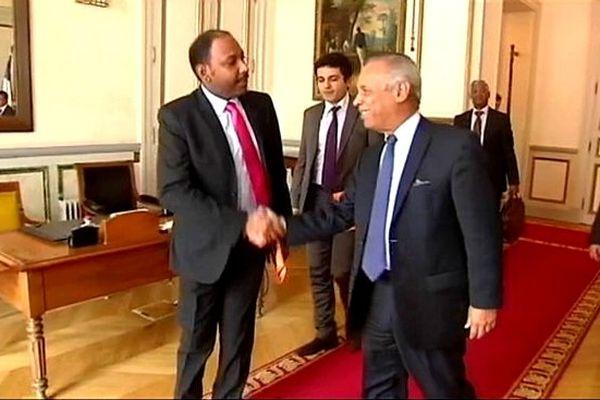 Thierry Robert et Victorin Lurel  au Ministère de l'Outre-Mer