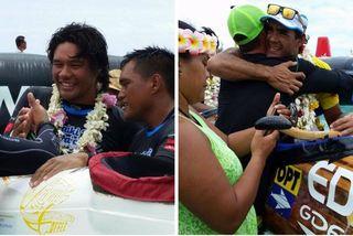 OPT vainqueur de l'étape à Bora Bora / EDT vainqueur de la Hawaiki nui 2015