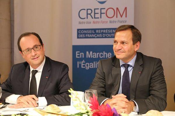 François Hollande, président de la République, et Patrick Karam, président du CREFOM