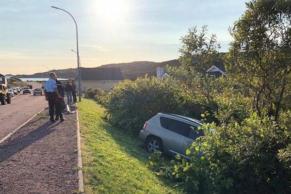 Accident de la route à Saint-Pierre