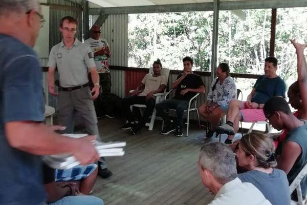 Session de formation autour de la chasse et l'utilisation d'un fusil