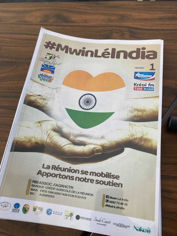 Action humanitaire « Mwin lé india »