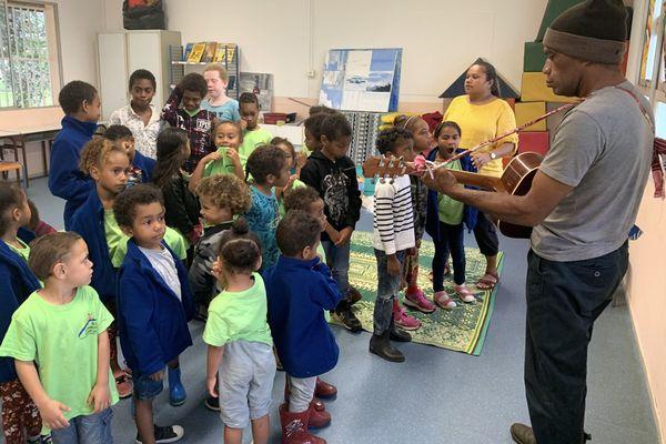 Projet entre écoles du Mont-Dore et de Yaté, école de Saint-Louis, Louis Ouetcho, 24 août 2020