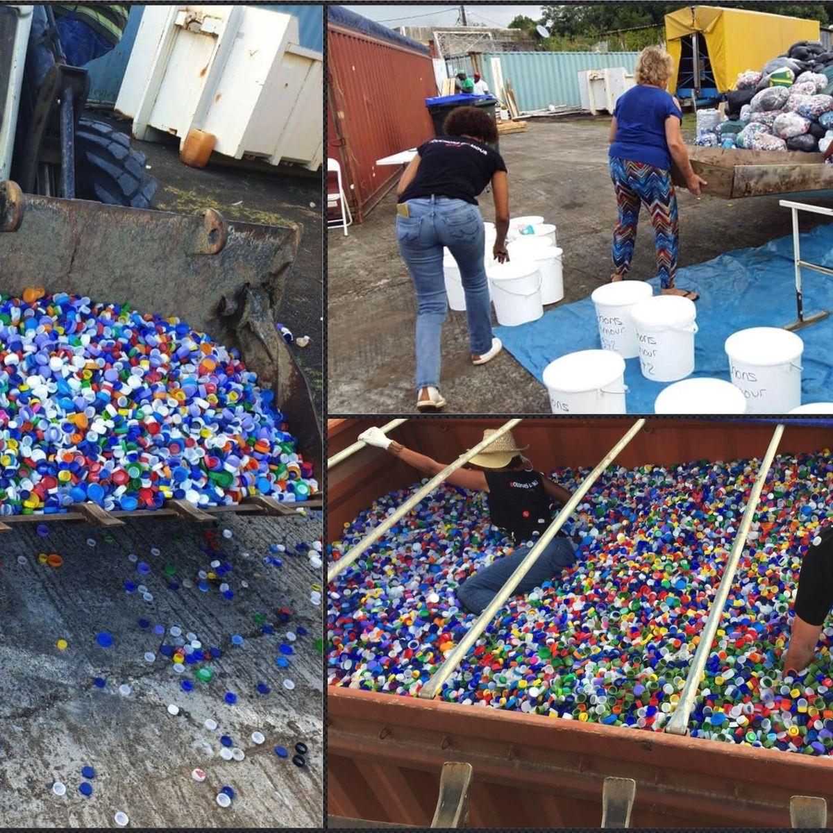 """La collecte de """"bouchons d'amour"""" séduit de plus en plus de Martiniquais"""
