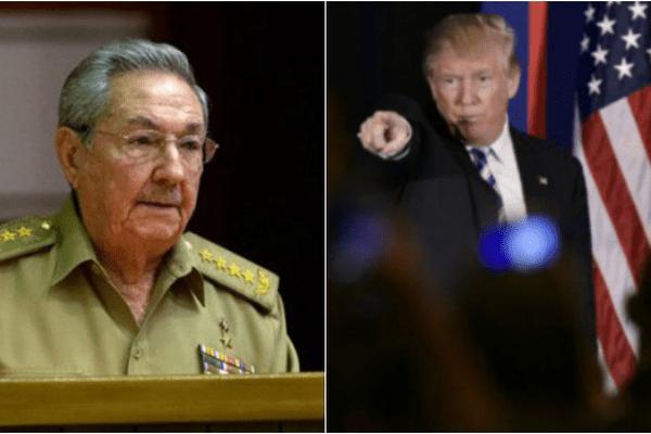Raul Castro et Donald Trump