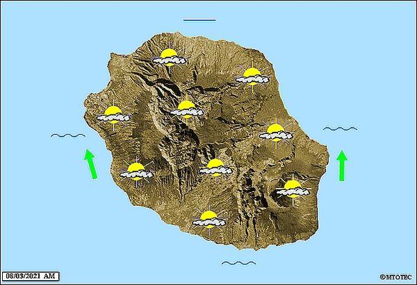 Carte météo 8 mars 2021