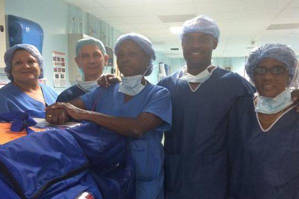 L'équipe du don d'organes de Cayenne