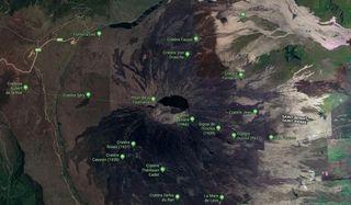 volcan enclos capture google maps
