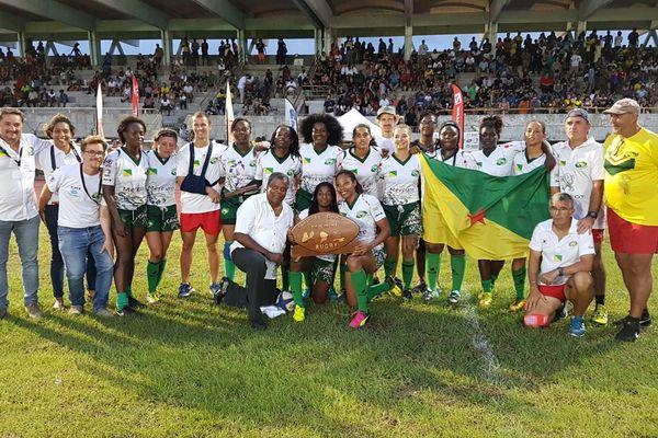 la valeureuse sélection féminine de rugby de Guyane