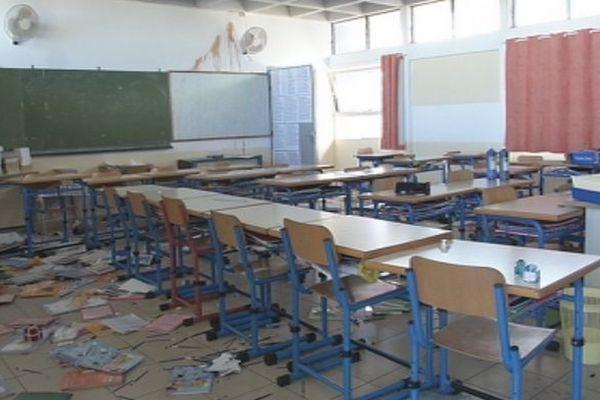 Ecole vandalisée